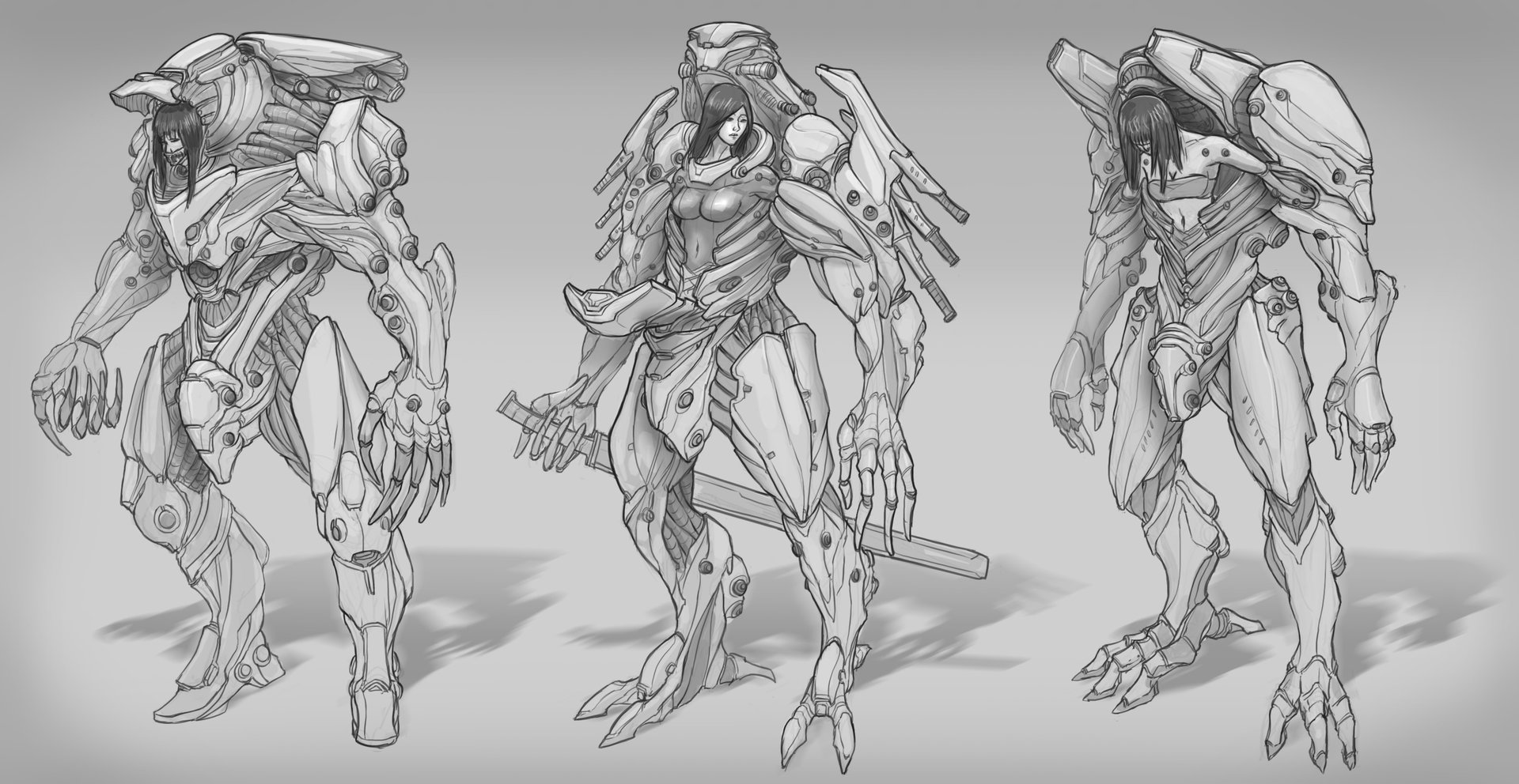 Edwin-Ho-Mech-Suit-Line-Drawing